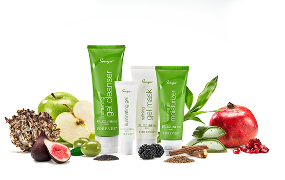 Try Forever's gel-based skincare series, Sonya daily skincare system.