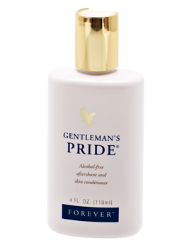 Gentleman's Pride is a refreshing aftershave lotion with Aloe vera and other ingredients. Smells fresh and soothes the skin.
