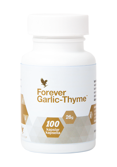 Forever Garlic-Thyme is an odour-free dietary supplement with ingredients that have been used for millennia.