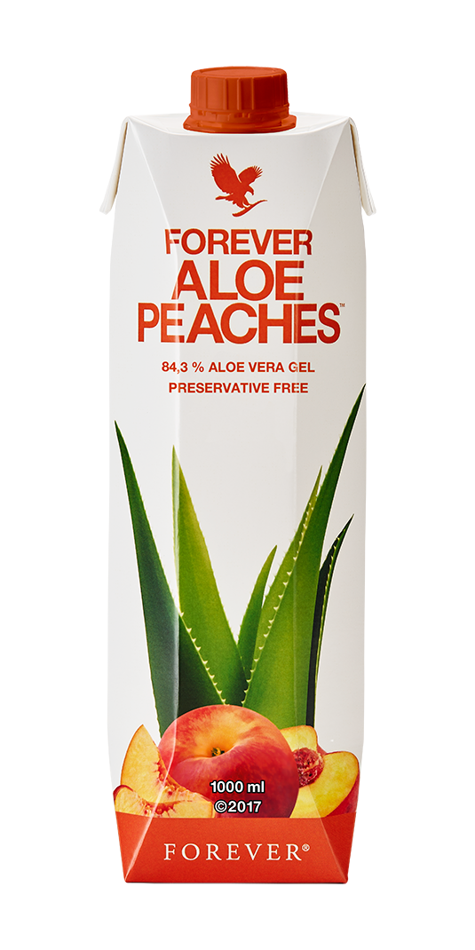 Forever Living Products' fruity Aloe vera drink is a peachy taste sensation.