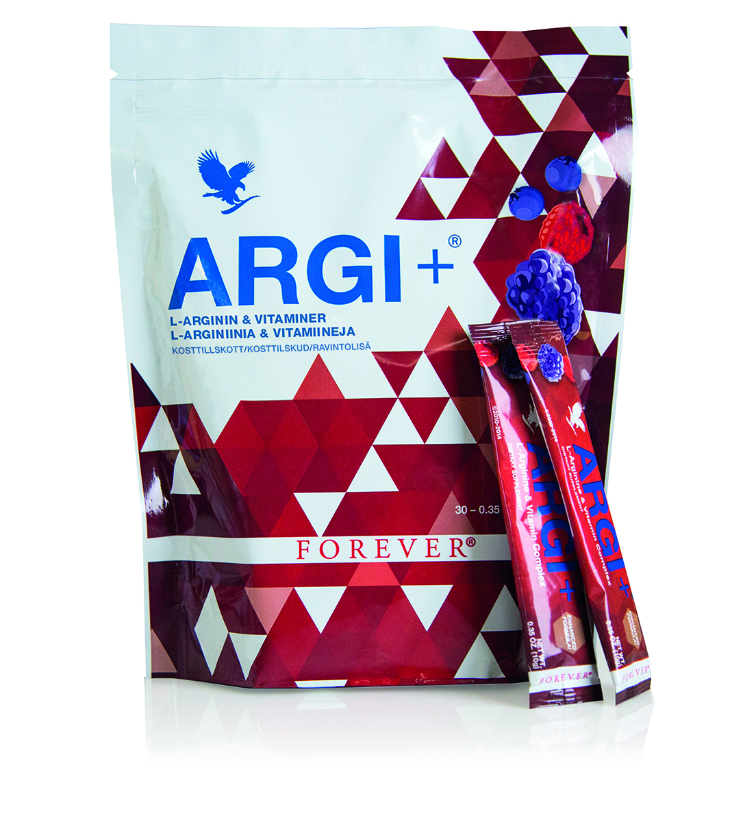 Forever Living's ARGI+ in handy portion sachets is a dietary supplement containing the amino acid L-arginine, and specially developed for an active lifestyle.